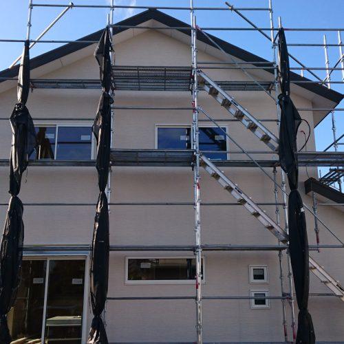ビュッフェ住宅モデルハウス 外壁工事完了!!